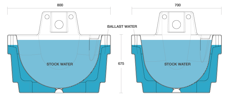 ballast-trough