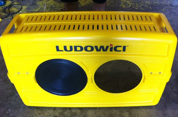 Custom rotomoulding design - Ludowici Exciter Guard