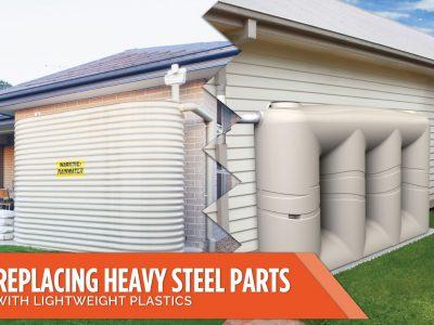 Replacing Heavy Steel Parts with Lightweight Plastics