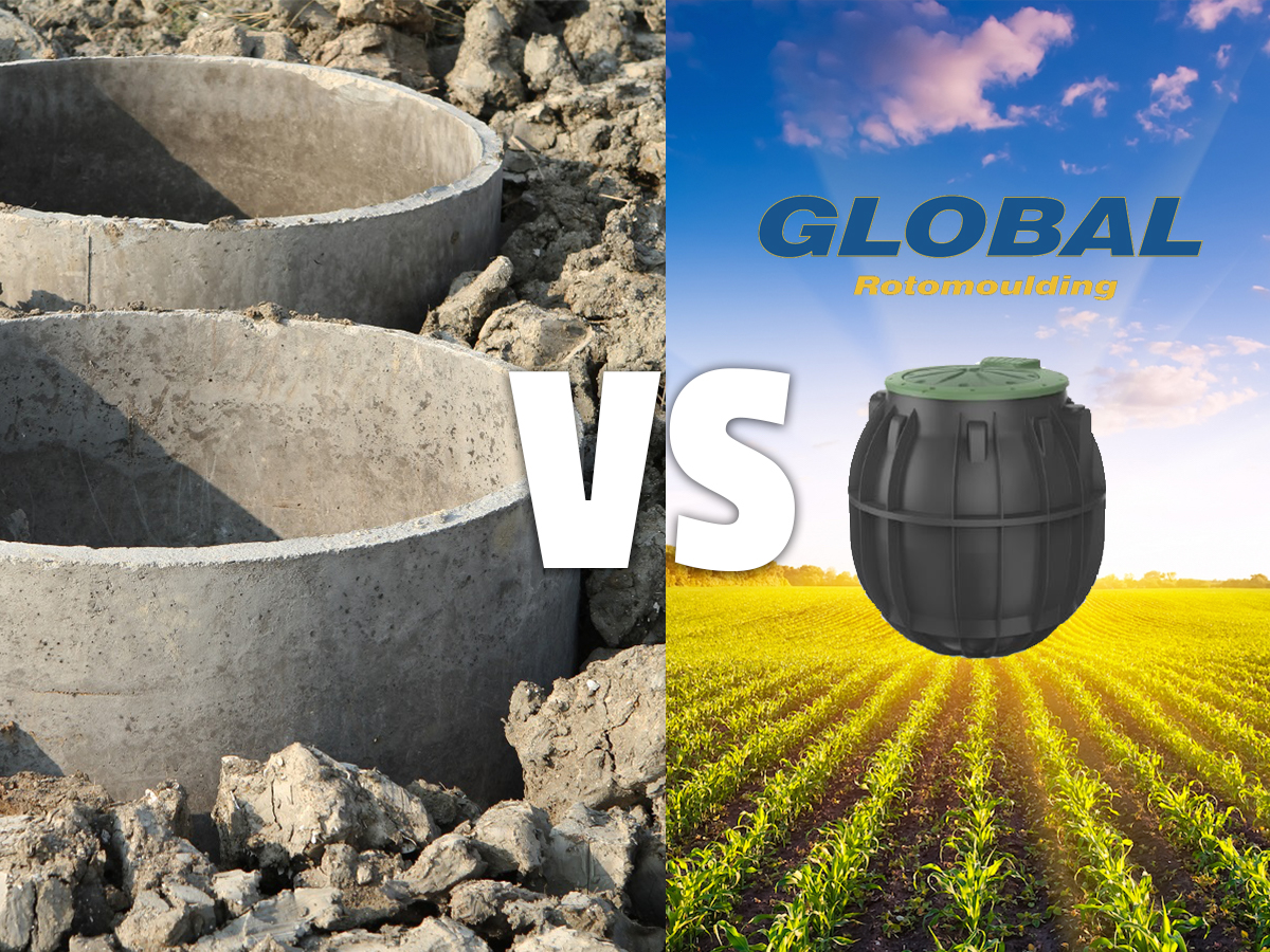 Comparing Plastic and Concrete Septic Tanks | Global Tanks | Brisbane