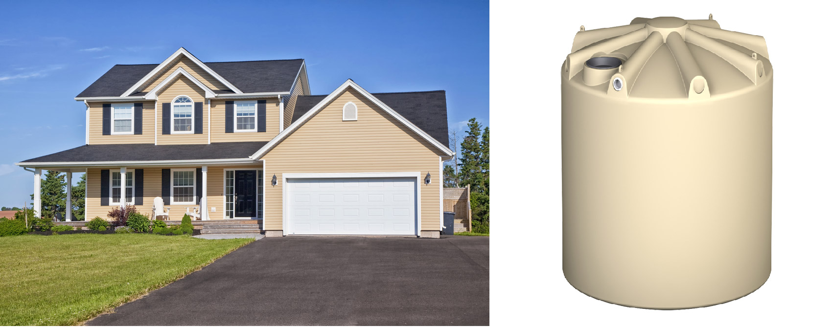 Matching water tanks to your home using the colorbond colour