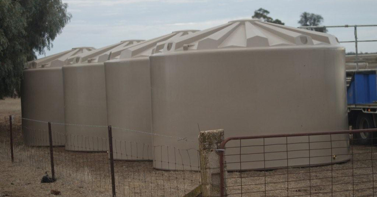 Purchase a water tank from Global to be eligible to connect to the South West Loddon Pipeline Global's range of water tanks and troughs are perfect for farm water reticulation systems.