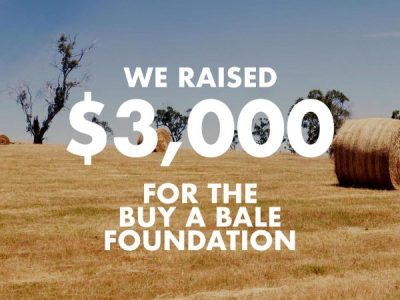 We Raised $3000 for the Buy a Bale Foundation