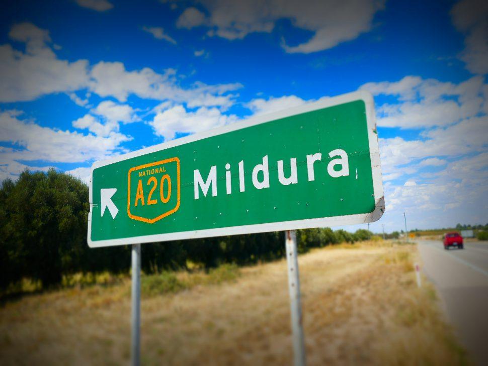Mildura Road Sign