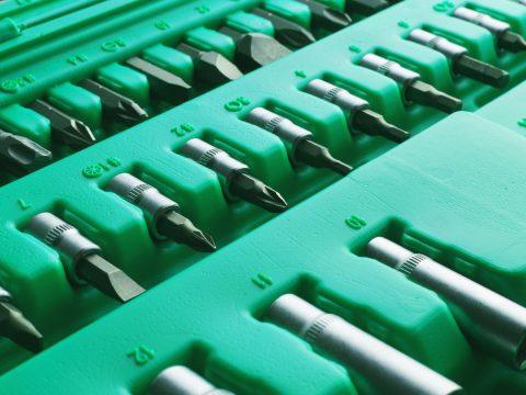 Screwdriver Bits In Plastic Case